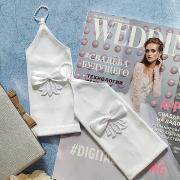 """Свадебные перчатки для невесты """"Тина"""" (белый)"""