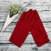 Вечерние атласные перчатки (бордовые)