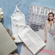 """Свадебные перчатки для невесты """"Патрисия"""" (белый)"""
