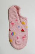 Носки женские от VIVID: Носки женские короткие хлопковые с розовым фламинго ? Vivid Sock Flamingo Fake Sock - Pink 1ea
