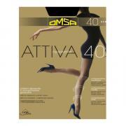 Колготки Omsa Attiva 40 den, цвет черный (nero), размер 6/XXL