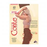 Колготки Conte Active Soft 40 den, цвет загара (bronz), размер 5/XL