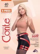 Колготки Conte Elegant X-Press 40 Nero Черные Размер 2