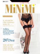 Чулки женские MiNiMi белые 3-4/M-L