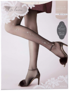 ATSUGI Je l'aime for Elegance Женские колготки с кристаллами Swarovski, размер M-L, цвет бежевый