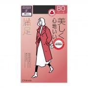 FUKUSKE MANZOKU Колготки серые 80 DEN, «с увлажняющим эффектом», размер L-XL (4-5)