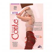 Колготки Conte Active Soft 20 den, цвет загара (bronz), размер 5/XL