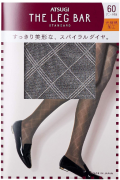 ATSUGI The Leg BAR Standard Женские колготки с узором 60 DEN, цвет черный, размер M-L
