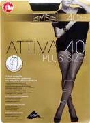 Колготки Omsa Attiva Plus size 40 Nero Черные Размер 6
