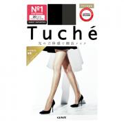 Колготки японские женские черные 20 Den (M-L 3-4) эффект хайлайтера Tuche, Gunze 1 пара