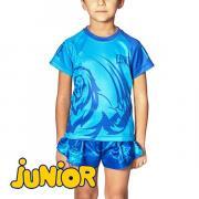 Детская футболка LEONE 1947 MASCOT ABJ12 Blue Leone