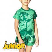 Детская футболка LEONE 1947 MASCOT ABJ12 Green Leone
