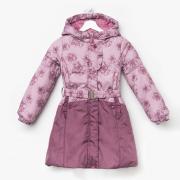 """Пальто """"Торри"""", рост 116 см, цвет розовый/ бордовый"""