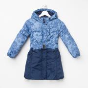 """Пальто """"Торри"""", рост 128 см, цвет голубой/ синий"""