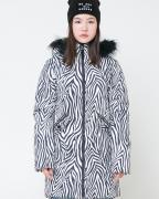 Пальто Cubby д/дев 158-164 тем.серый, зебра ВКБ 38052/н/1 ГР