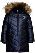 Пальто для девочки Button Blue, цв.синий, р-р 110