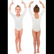 Купальник гимнастический рукав 3/4 INDIGO SM-136 белый