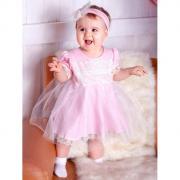Дашенька Комплект нарядный для девочки (платье, повязка)