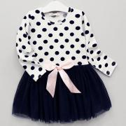 Платье для девочки с тюлевой пышной юбкой, бантик на поясе
