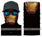 Бесшовная бандана-труба-шарф-маска, железный человек, iron man, подарочная упаковка GF 5404