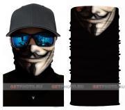 Бесшовная бандана-труба-шарф-маска, маска старина, old mask, подарочная упаковка GF 5424