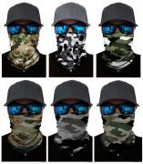 Набор из 6 штук, бандана-труба-шарф-маска, камушляж однотонные, camouflage GF 5479