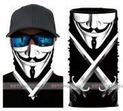 Бесшовная бандана-труба-шарф-маска, маска с мечами, sword mask, подарочная упаковка GF 5420