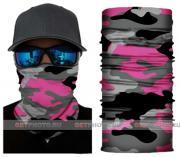 Бесшовная бандана-труба-шарф-маска, камушляж 7, розовый, camouflage, подарочная упаковка GF 5433