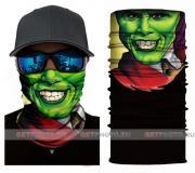 Бесшовная бандана-труба-шарф-маска, зеленая маска, mask green, подарочная упаковка GF 5417