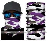 Бесшовная бандана-труба-шарф-маска, камушляж 15, фиолетовый, camouflage, подарочная упаковка GF 5441