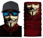 Бесшовная бандана-труба-шарф-маска, маска с розами, бордовая, mask with roses, подарочная упаковка GF 5421