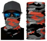 Бесшовная бандана-труба-шарф-маска, камушляж 6, красная, camouflage, подарочная упаковка GF 5432