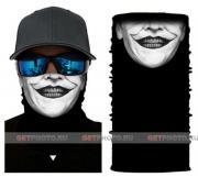 Бесшовная бандана-труба-шарф-маска, джокер улыбка, joker smile, подарочная упаковка GF 5426