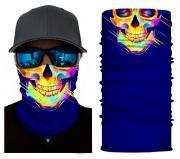 Бесшовная бандана-труба-шарф-маска, череп, синий, skull, подарочная упаковка GF 5413