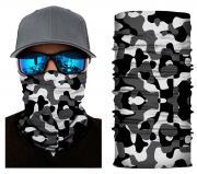 Бесшовная бандана-труба-шарф-маска, камушляж 4, черно-белая, camouflage, подарочная упаковка GF 5430