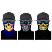 Набор из 3 штук, бандана-труба-шарф-маска, черепа, skulls 1 GF 5482