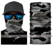 Бесшовная бандана-труба-шарф-маска, камушляж 10, черно-серый, camouflage, подарочная упаковка GF 5436