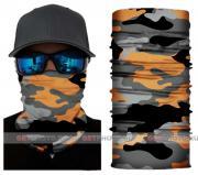 Бесшовная бандана-труба-шарф-маска, камушляж 9, оранжевый, camouflage, подарочная упаковка GF 5435