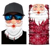 Бесшовная бандана-труба-шарф-маска, дед мороз, санта-клаус, santa clause, подарочная упаковка GF 5403