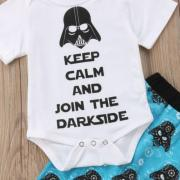 Fashion Newborn Baby Boys Star Wars Cotton Romper Top Pants Outfits Clothes USA