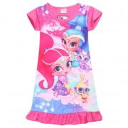 Shimmer&Shine Top T Shirts Dress Nightwear Nightdress Pyjamas Kids Clothes
