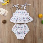 Summer Newborn Infant Baby Girls Arrow Tops Dress Shorts Panties Clothes Outfits