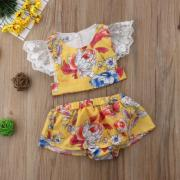 Baby Girl Kids Summer Toddler Outfits Clothes T-shirt TopsShorts Pants 2PCS Set