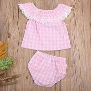 Toddler Kids Baby Girls Summer Outfits Clothes T-shirt TopsShorts Dress 2PS Set