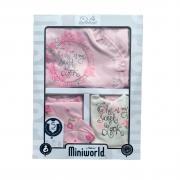 Комплект для новорожденного 5 пр. (Розочки), цв. розовый, арт. 76540, р. 0-3 мес, Miniworld