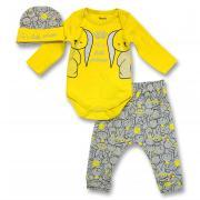 Комплект с шапочкой, для новорождненной девочки, цв. желтый, арт 54010, р. 68