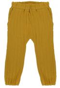 Штаны из хлопкового муслина горчичного цвета из коллекции Essential 3-4Y Tkano