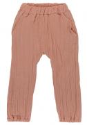 Штаны из хлопкового муслина цвета пыльной розы из коллекции Essential 24-36M Tkano