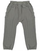 Штаны из хлопкового муслина серого цвета из коллекции Essential 3-4Y Tkano