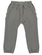 Штаны из хлопкового муслина серого цвета из коллекции Essential 18-24M Tkano